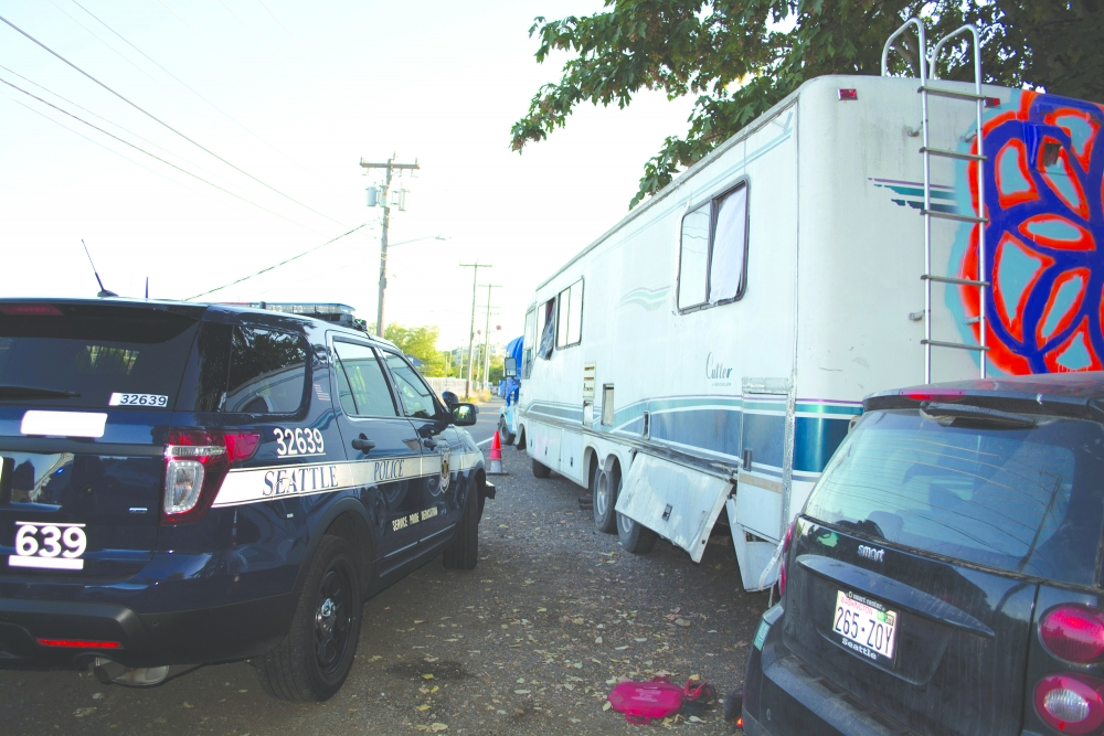 Several RV campers parked along North Northlake Way have caused tension with locals.
