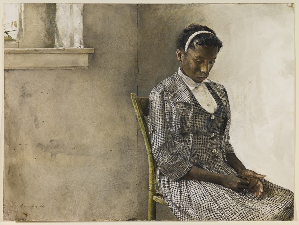 """""""Day of the Fair"""" by Andrew Wyeth, 1963, Seattle Art Museum"""