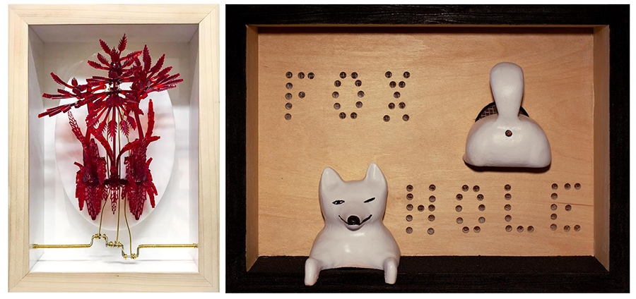 "From left, ""Blush"" by Casey Curran, ""Fox Hole"" by Tom Gormally at METHOD gallery."