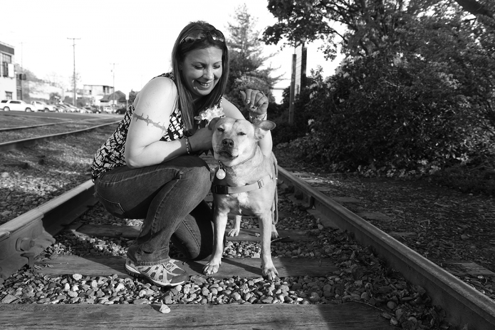 Penny Lane with her dog Déjà. Photo by Gemina Garland-Lewis
