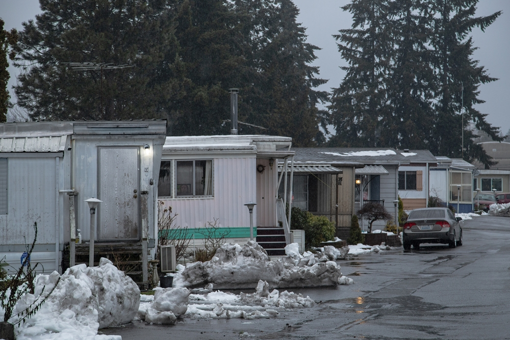 Members of the Seattle City Council have issued a one-year moratorium on development to help keep a group of low-income seniors living there from losing their mobile homes. Photo by Matthew S. Browning
