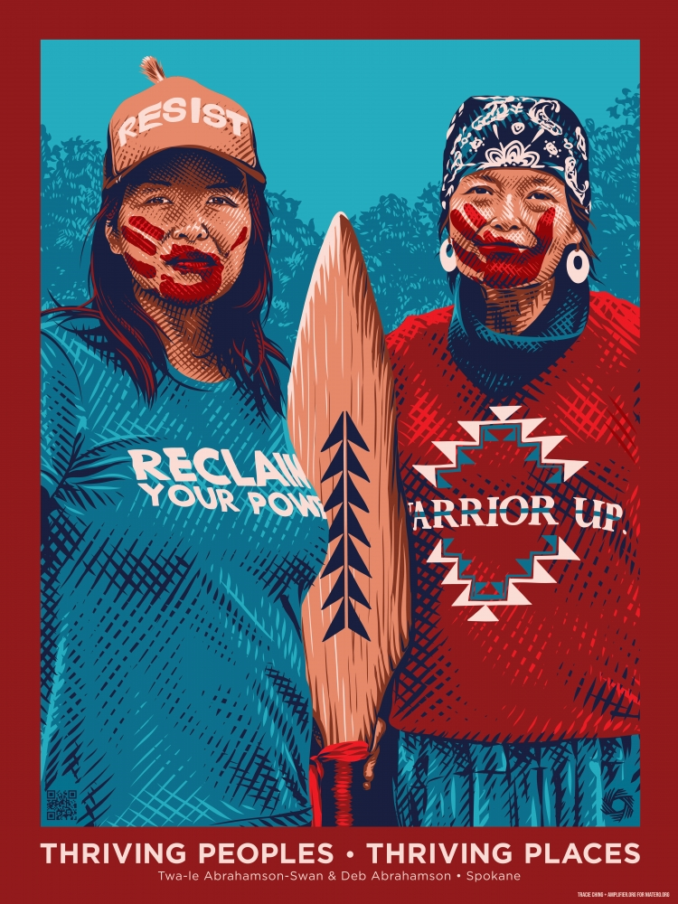 Deb Abrahamson is a member of the Spokane Tribe, an environmental activist and a water protector who played a large part in the push to clean up the legacy of uranium mining on the Spokane Indian Reservation; Abrahamson died of cancer in January 2020, att