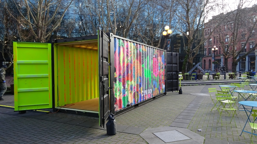 """Illumination Station"" by Electric Coffin in Occidental Park. Photo by Lisa Edge"
