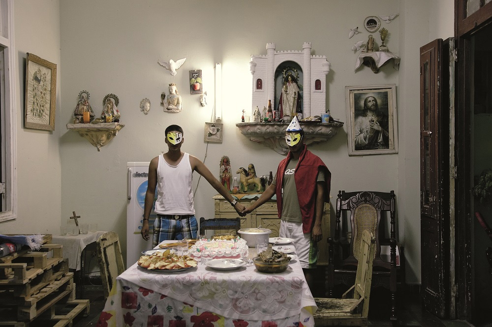 """""""The Last Supper in Havana,"""" by Hasan and Husain Essop, 2009, pigment print on cotton rag paper, 26 1/2"""" × 40"""""""