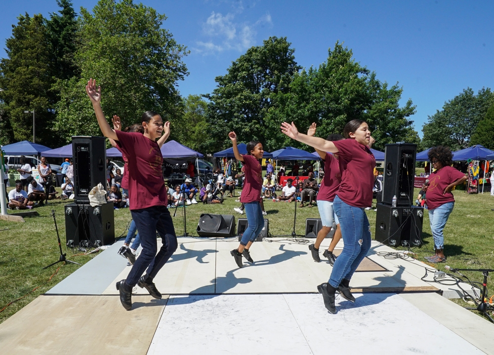 Tap Connection performs during the Juneteenth celebration. Photo by Susan Fried