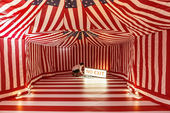 """The Greatest Show on Earth"" installation by Holly Ballard Martz.Photo by Ian Lewis."