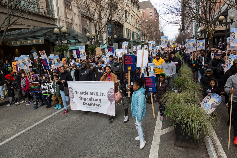 MLK Day March and Rally. Photo by Lisa Hagen Glynn.