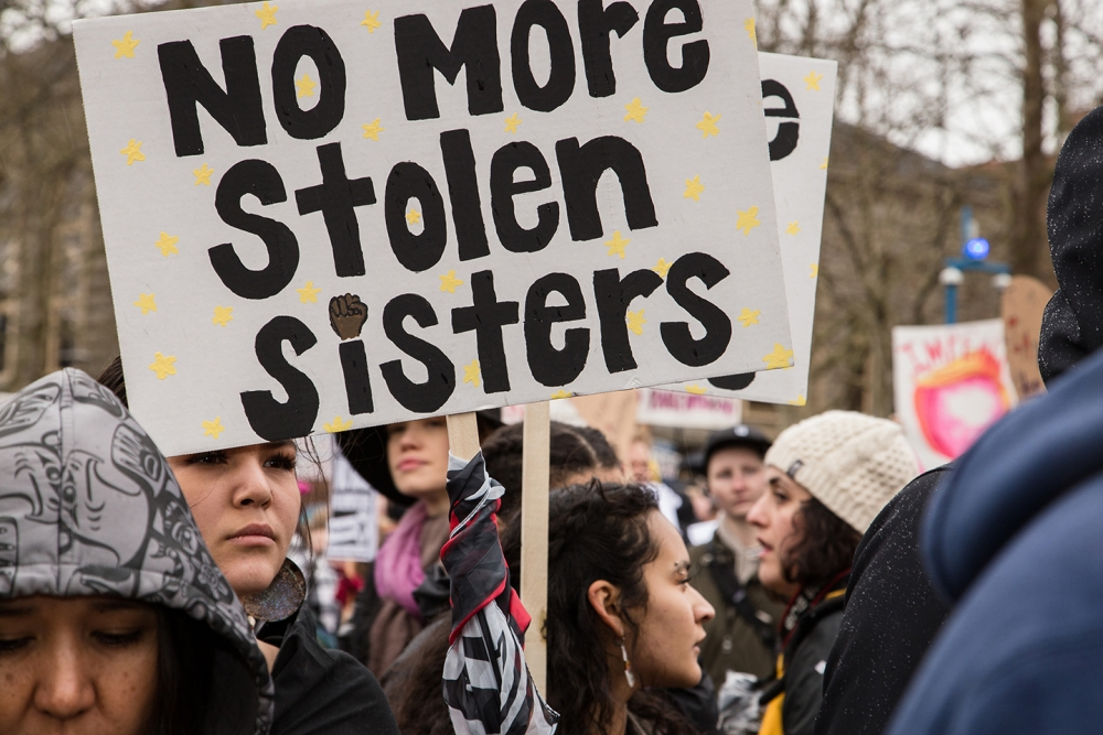 Missing and Murdered Indigenous Women's March in Seattle. Photo by Matthew S. Browning