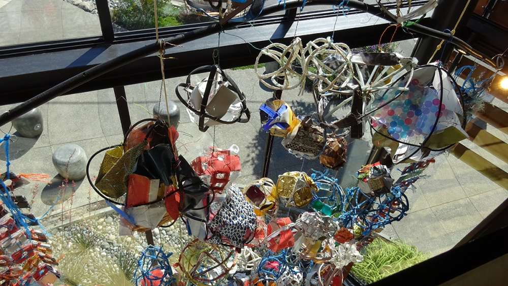 """Dingus brings many small objects together to create """"Big Girl."""" Photo by Lisa Edge"""