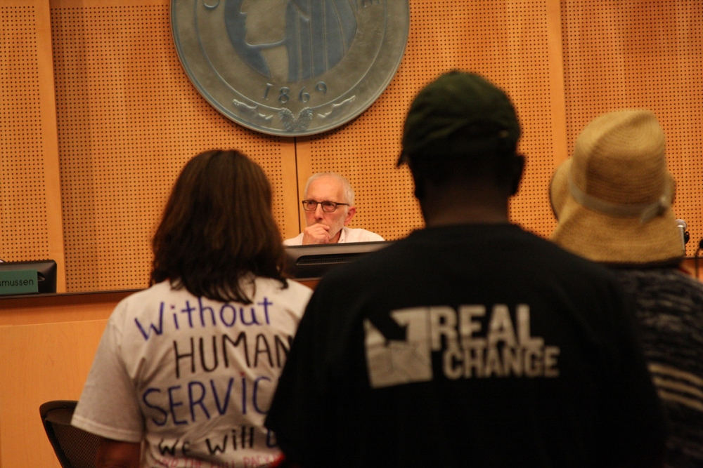 Nick Licata serving on Seattle City Council. File photo