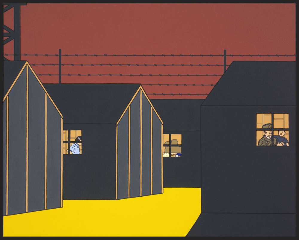 """Nightwatch,"" 2010, lithograph by Roger Shimomura."