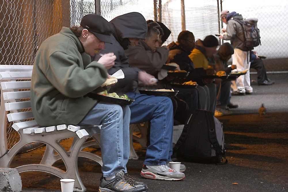 Operation: Sack Lunch, a nonprofit that serves meals to homeless people. Photo by Jon Williams, Real Change