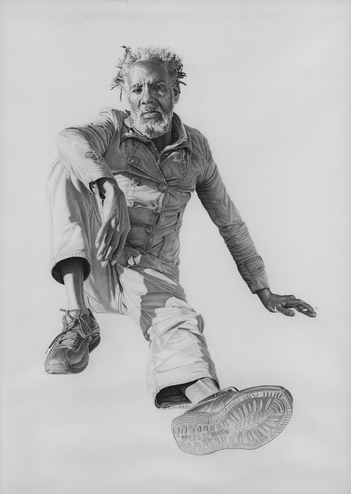 """Eugene #4"" by Joel Daniel Phillips, charcoal and graphite on paper, 2014."