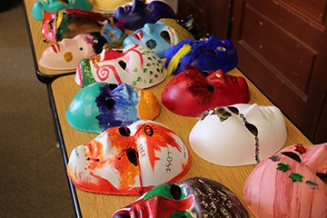 "Path With Art's ""Summer Visions"" exhibition will include a display of unique masks. Photo courtesy PWA"