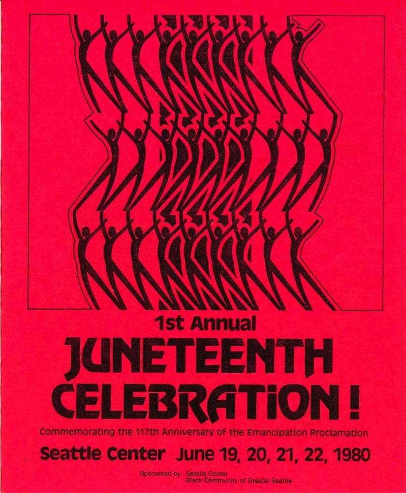 The first annual Juneteenth celebration at the Seattle Center was held in 1980. Courtesy Seattle Municipal Archives / Creative Commons