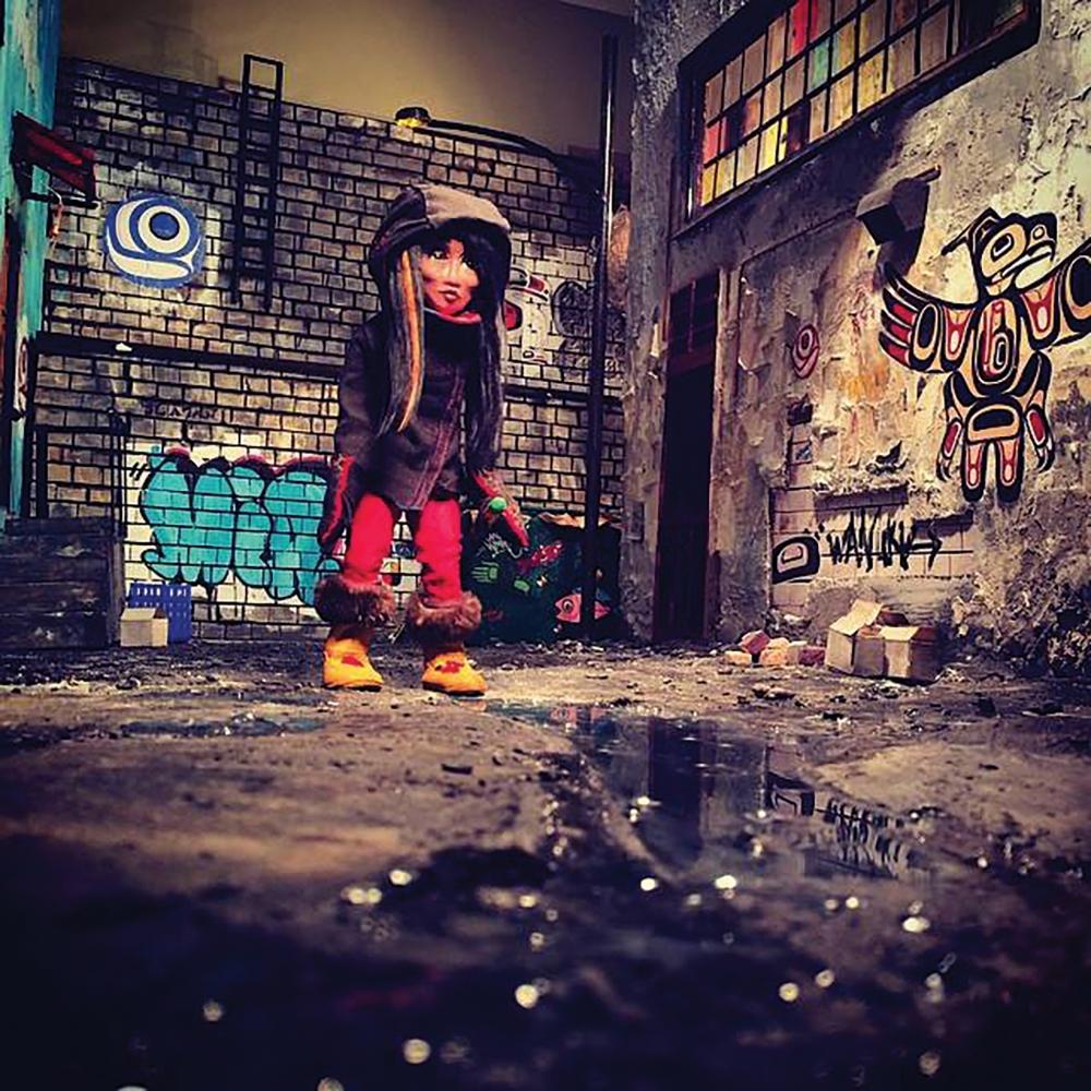 A screenshot of a stop-motion film by Raven John. Photo courtesy Raven John