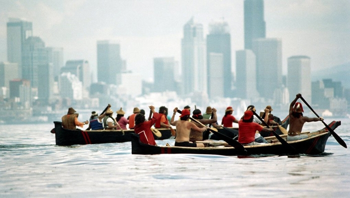 Quileute Tribe - 1989 Paddle to Seattle ©The Quileute Nation