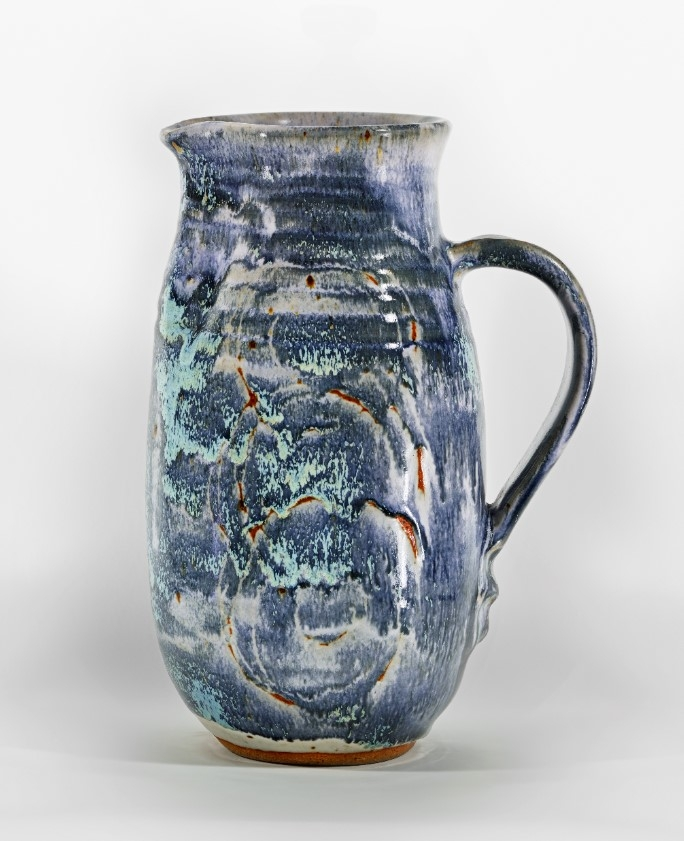 A pitcher by Lorene Spencer (1923–2016), circa 1955. Fine art by feminine-aligned LGBTQ+ artists around this time can be harder to track down, as society put more rigid restrictions on their opportunities for self expression.