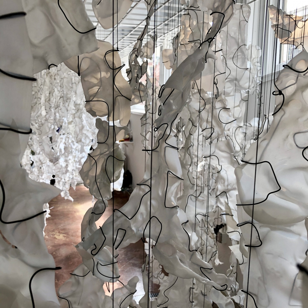 """Detail of """"Seam"""" installation. Photo courtesy Second Growth"""