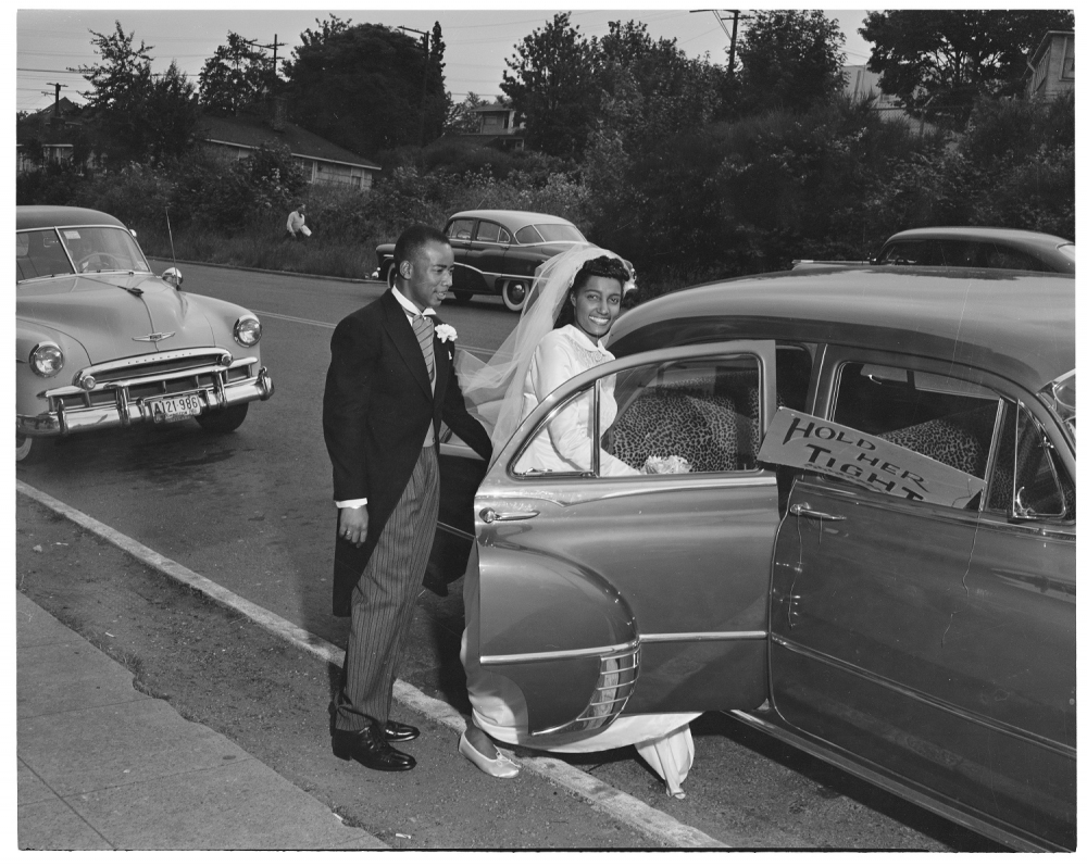 Couple getting married in 1952 by Al Smith