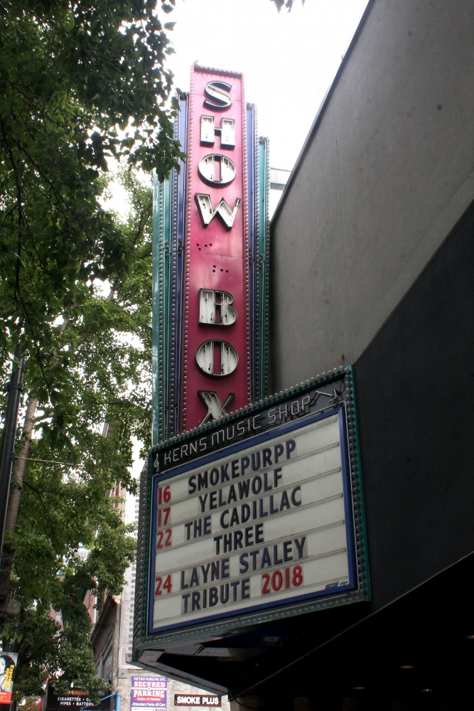 The Showbox Theater was added to the historical district for a period of 10 months while the City Council weighs its options for the possible development of the  building. Photo by Jon Williams