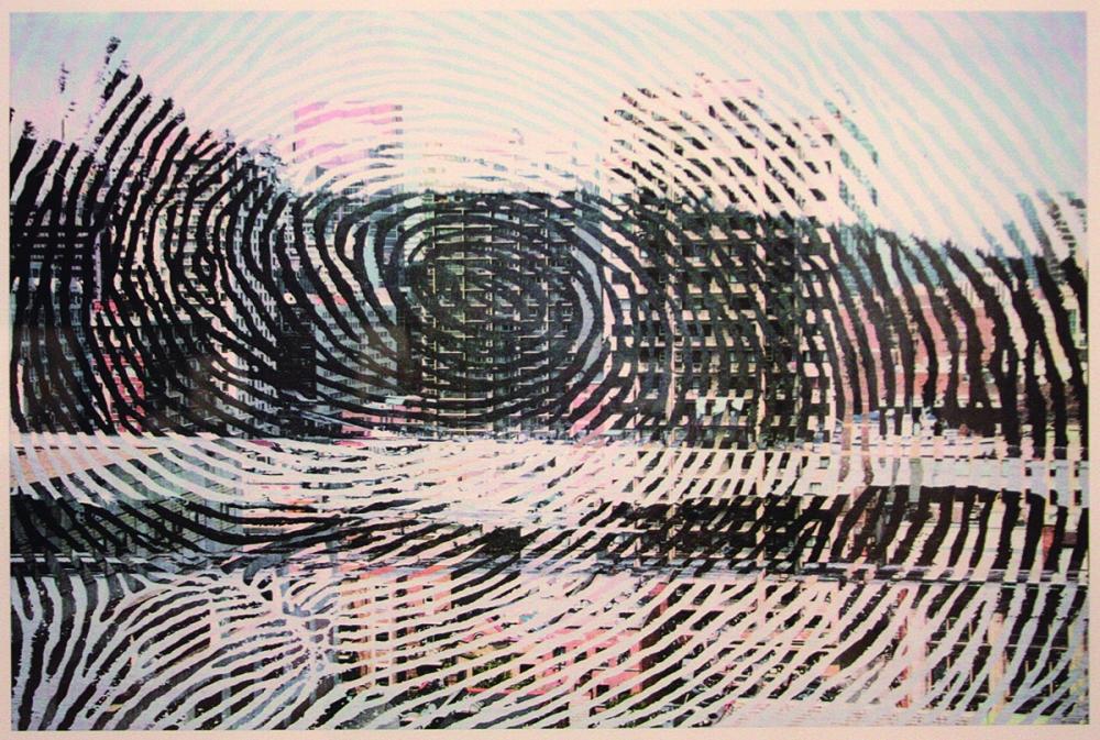 """""""Henslung,"""" 2008, by John Brent Bennett, Haida First Nation, lithograph"""