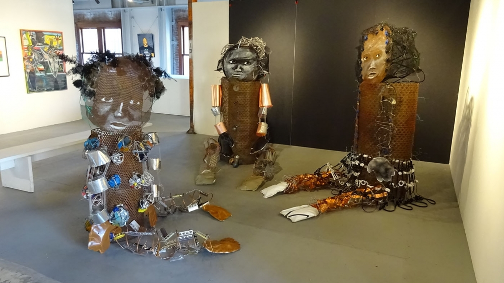 """""""The Gathering"""" by Marita Dingus, found object sculpture. Photo by Lisa Edge"""