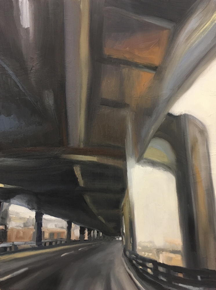 """""""Stretched II"""" by Laura Hamje, oil on board, 24 x 18 in., 2017"""