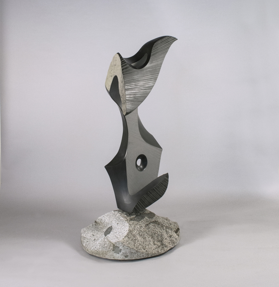 """""""Benedictine"""" by Will Robinson, basalt, 73 x 35 x 38"""" at Foster/White gallery"""