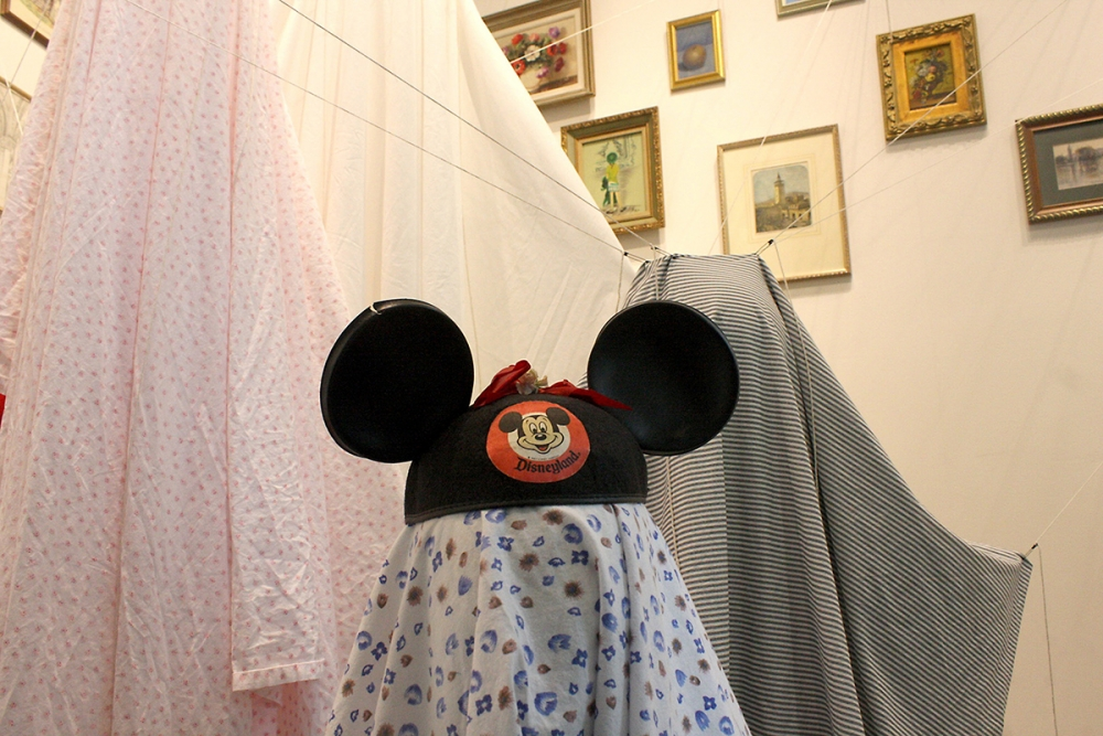 Mickey Mouse ears mark the smallest of Lopez's family of ghosts. Photo by Jon Williams