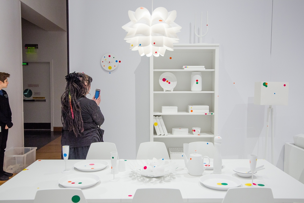 """""""The Obliteration Room"""" is an interactive exhibit. Photo by Matthew S. Browning"""