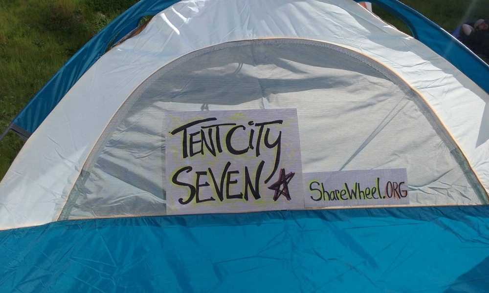 A home in Tent City Seven in Seattle. Photo courtesy of SHARE/WHEEL