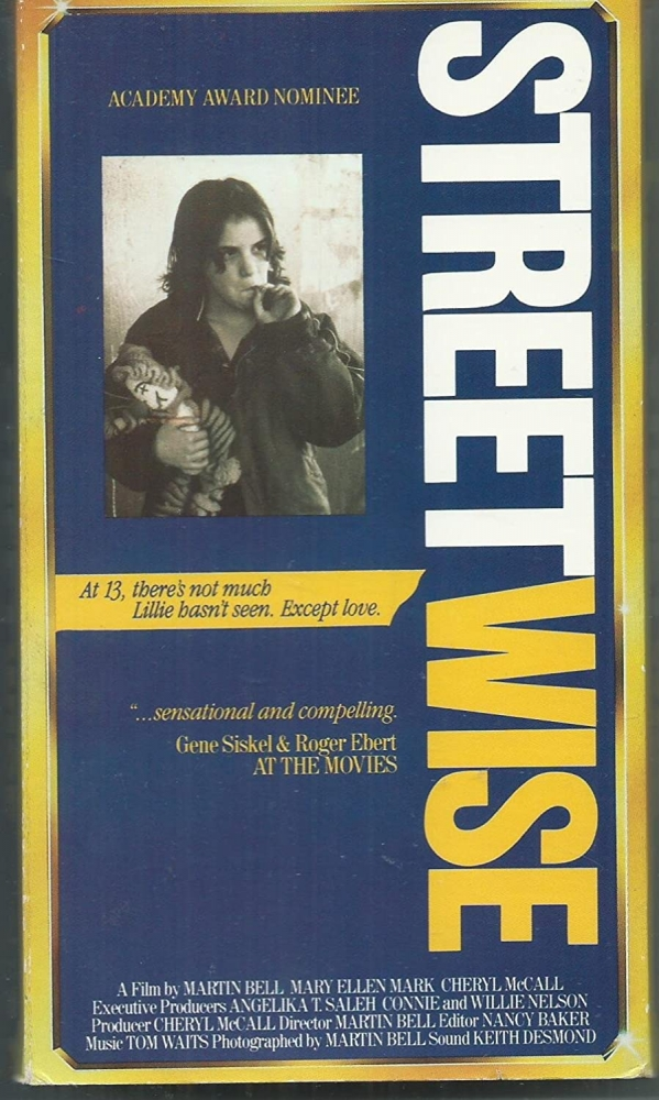 """The original VHS cover for """"Streetwise"""" has the tagline """"At 13, there's not much Lillie hasn't seen. Except love."""""""