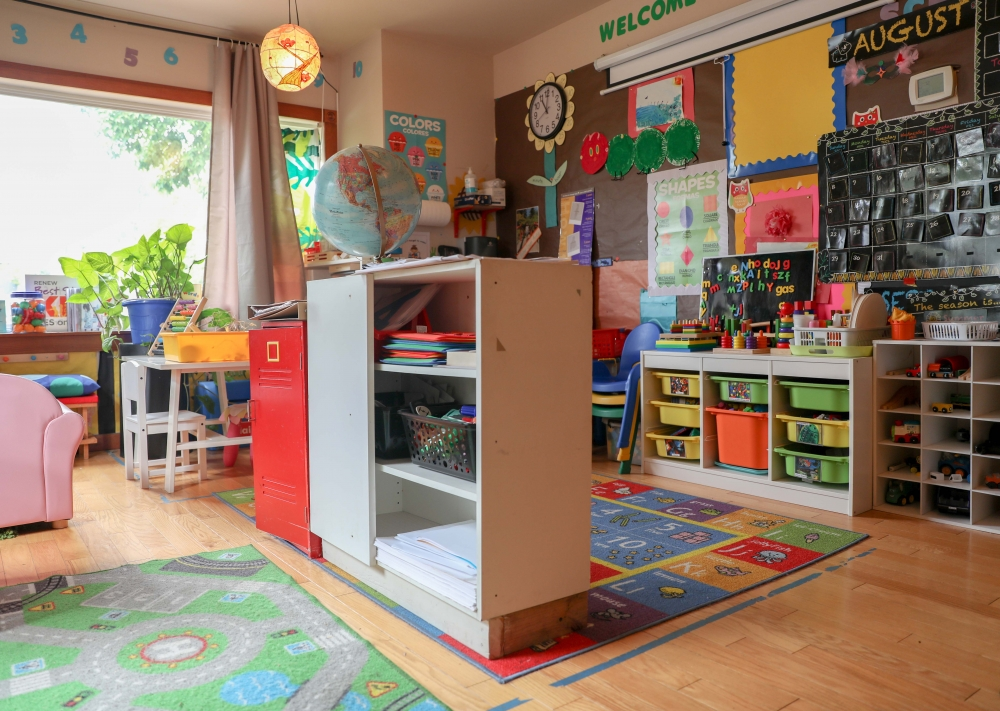 Every room in Mitchell-Anderson's house, except for her bedroom and laundry room, has been redesigned for students to engage with and learn.