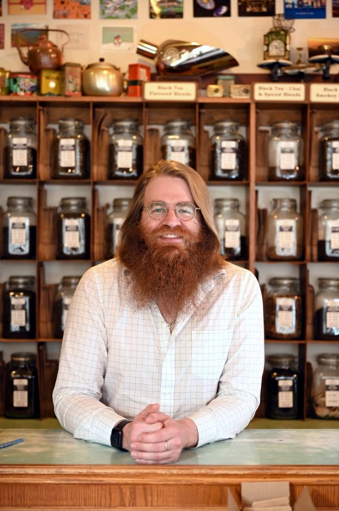 Dolan Honsa, owner of Perennial Tea Room.