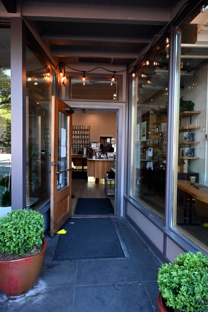 The entrance to Miro Tea in Ballard is welcoming to all — tea drinkers and dabblers.