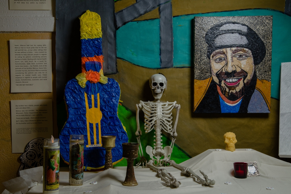 Day of the Dead altar created by Patricia Ann Wilson. Photo by Matthew Browning.