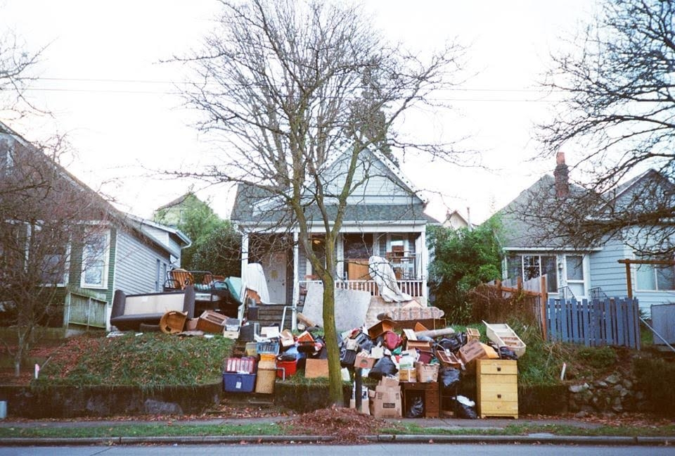 "Photographer Lauren Max, whose work will be displayed in ""nowHERE,"" captures an unpleasant scene of a Seattle eviction."